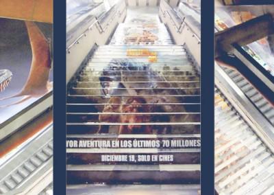 """¡Aviso!, En el metro están """"Caminando con dinosaurios"""""""