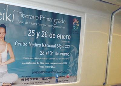 El Colegio Mexicano Usui Reiki Ryoho se sube al Metro
