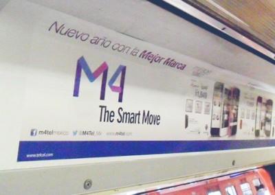 M4TEL comunica con todo en el Metro DF