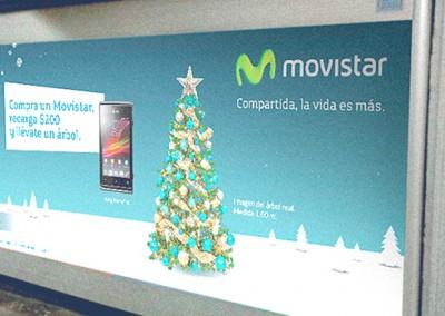 Movistar se sube al Metro por primera vez