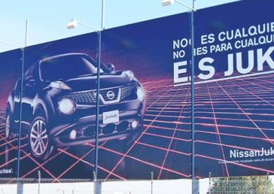 El nuevo Juke de Nissan se apodera de espacios de gran formato en el AICM