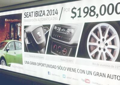 Promueve SEAT los modelos 2014 durante la temporada más fuerte del año en el AICM