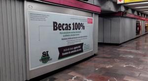 Becas al 100%. IBERO acerca la educación académica a los usuarios del Metro DF.