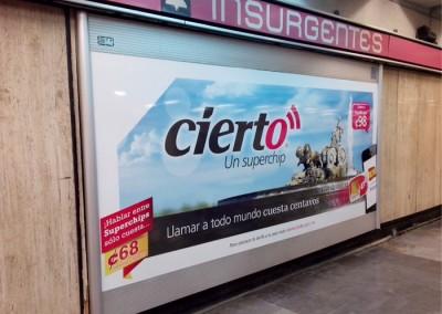 Lanza nuevo producto Telefónica Ekofon en el Metro DF