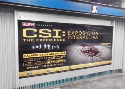 Original exhibición invita a los usuarios del Metro DF a convertirse en investigadores CSI