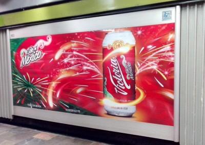 Cerveza Victoria festeja las fiestas patrias en el Metro DF
