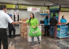 """Crujitos de Sabritas da """"probadas"""" sabor a queso en el Metro DF y en el metro Monterrey y la central de autobuses de Guadalajara"""