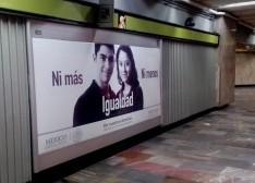 INSTITUTO NACIONAL DE LAS MUJERES promueve la igualdad en los Metros del país