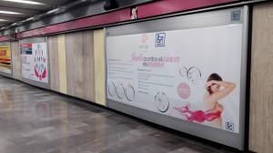 Los Metros de México se unen al movimiento de Octubre Rosa