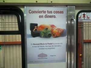 NACIONAL MONTE DE PIEDAD les dice a los usuarios de los metros como convertir sus cosas en dinero
