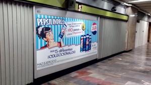 Vuelven los Pepsilindros y lo hacen en el Metro DF