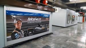 La Fórmula 1 calienta motores en el Metro DF