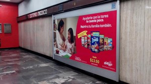 Kellogg´s promueve sus presentaciones económicas en los Metros del DF y Monterrey