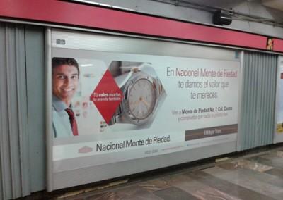 Nacional Monte de Piedad ofrece aliviar económicamente a los usuarios del Metro DF
