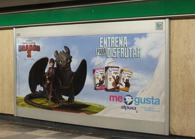 """Alpura te dice """"Como entrenar a tu dragón"""" en el Metro DF"""