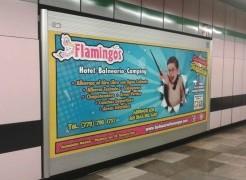 Balneario Flamingos invita a refrescarse a los usuarios del Metro DF