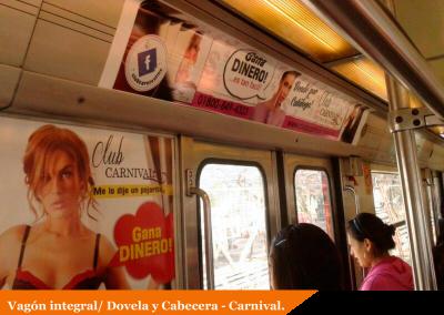 Lencería Carnival intensifica su estrategia publicitaria en espacios del Metro DF