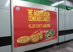Crackets de Gamesa lanza una ingeniosa campaña en el Metro DF