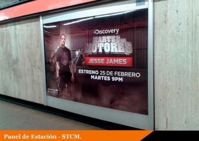 Los martes de motores de Discovery Channel se anuncian en el Metro DF