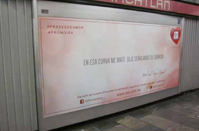 Frases de amor conquistan al Metro DF