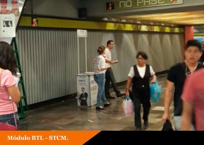 GNP seguros aprovecha las afluencias del Metro DF para reclutamiento