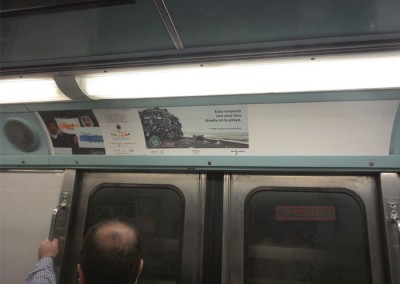 SEMARNAT lanza un mensaje de conciencia en el Metro DF