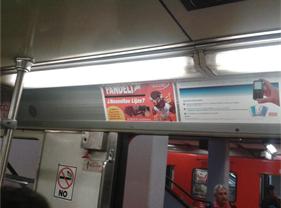 Lijas Fandeli se acerca a usuarios del Metro DF