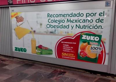 Zuko refresca a los usuarios del Metro DF con deliciosos sabores