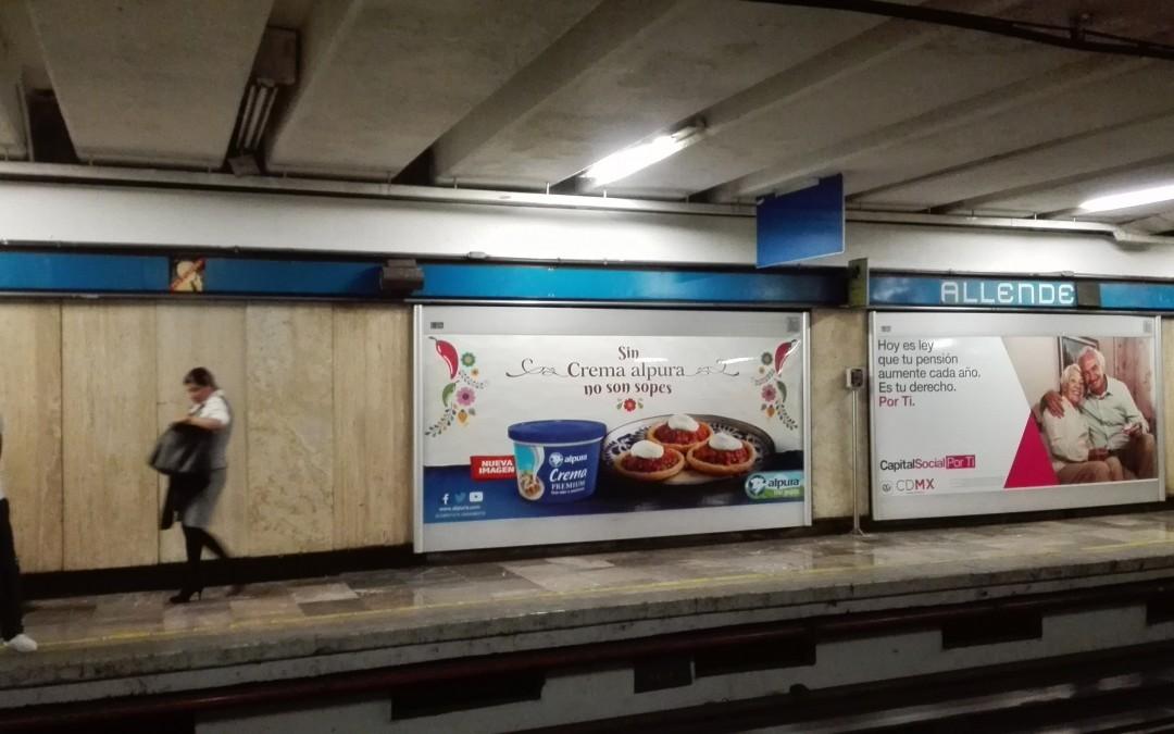 Alpura: Más que leche en el Metro DF