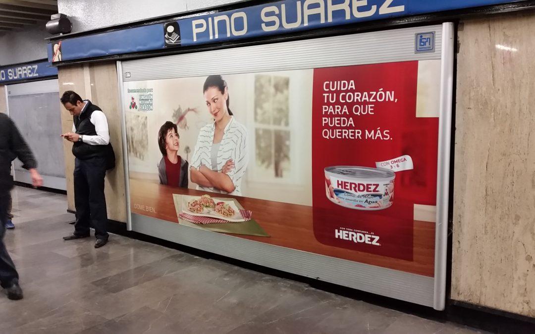 Atún Herdez les informa como cuidar su corazón a los usuarios del Metro CDMX