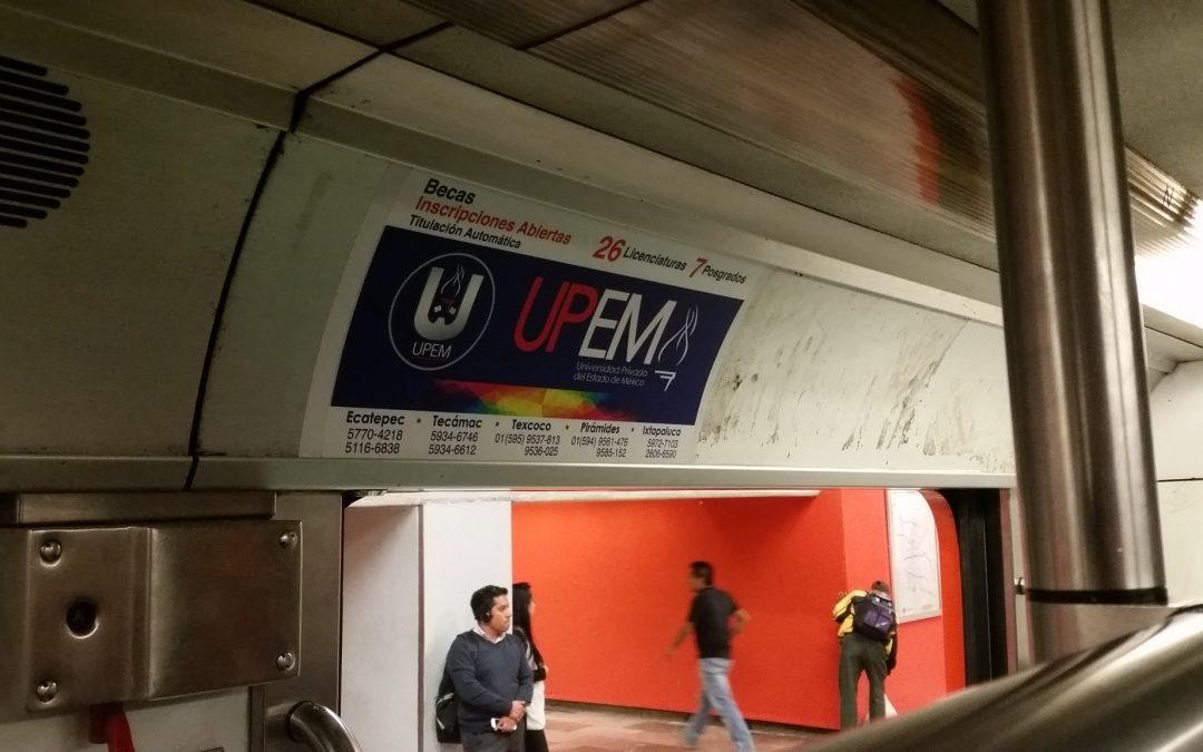 UPEM abre período de inscripciones y lo comunica en el Metro CDMX