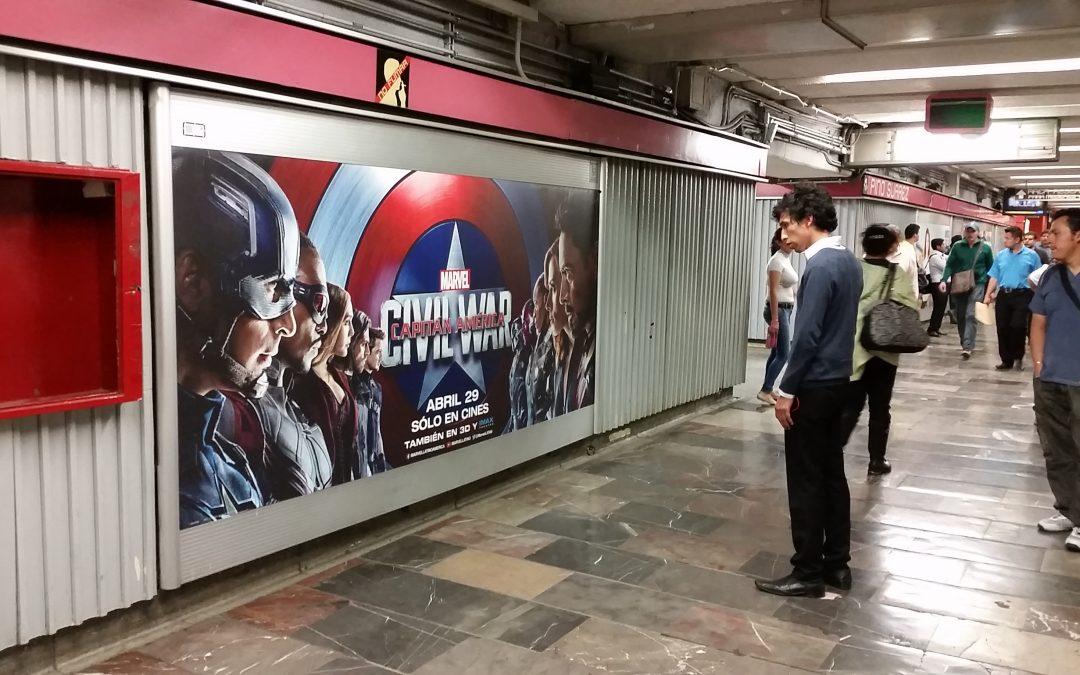 """""""Civil War"""" divide a los usuarios del Metro CDMX"""