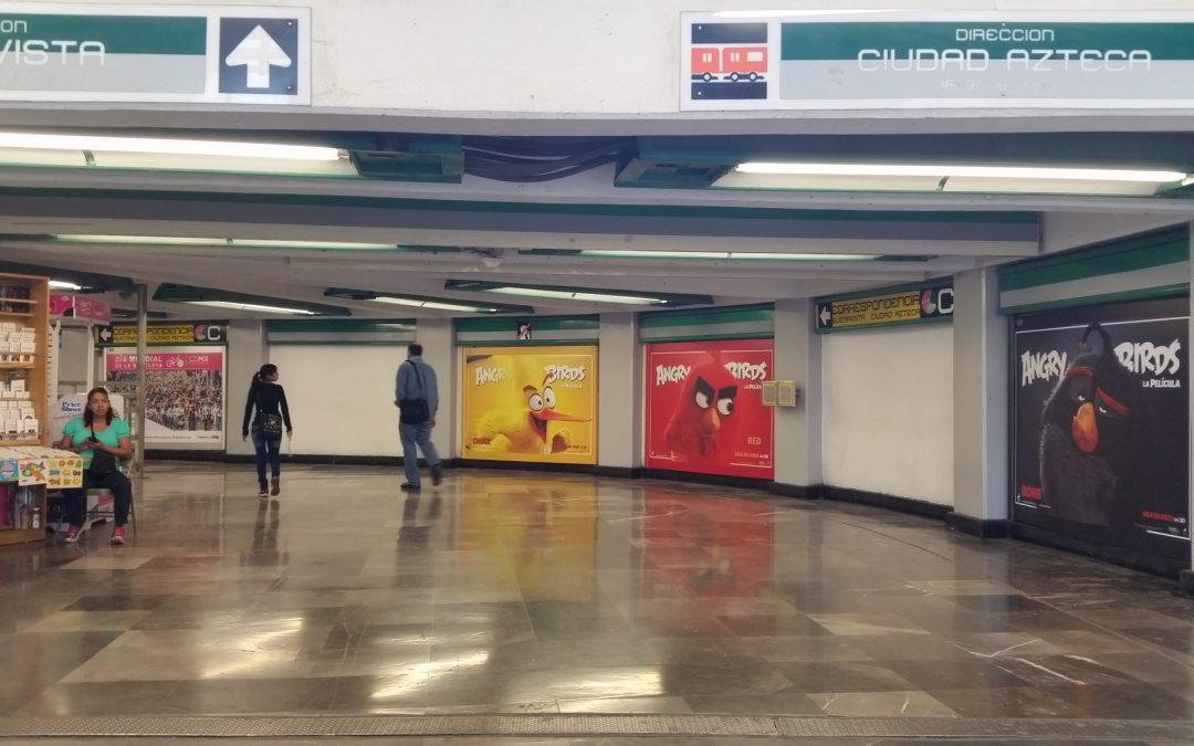 Angry birds salta a la pantalla grande y aterriza en el Metro CDMX