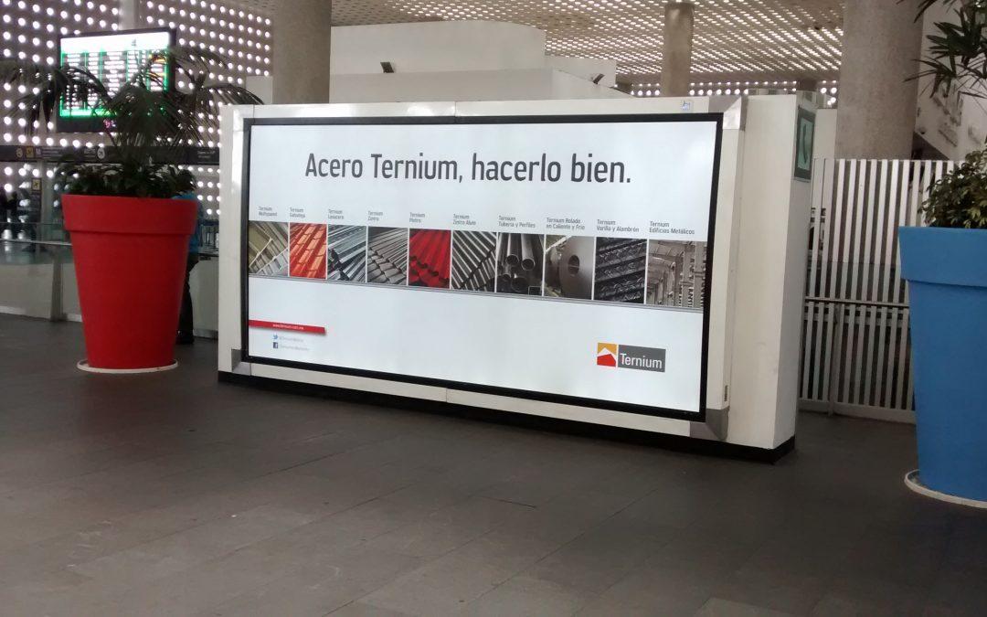 Aceros Ternium lo hace bien en la terminal 2 del AICM