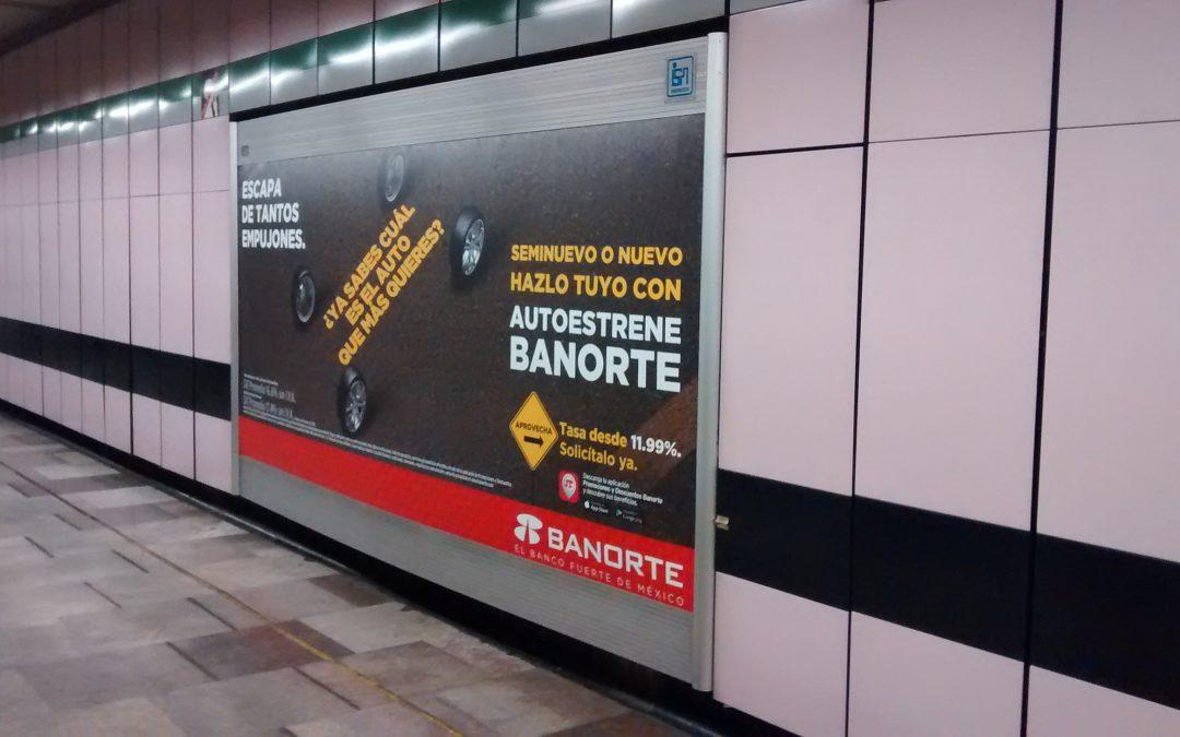 Banorte invita a estrenar en el Metro CDMX