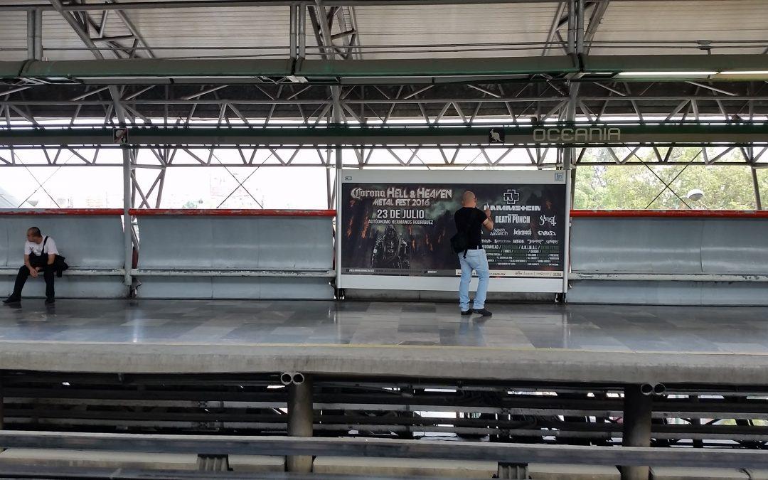 Toda la furia del metal impacta a los usuarios del Metro CDMX