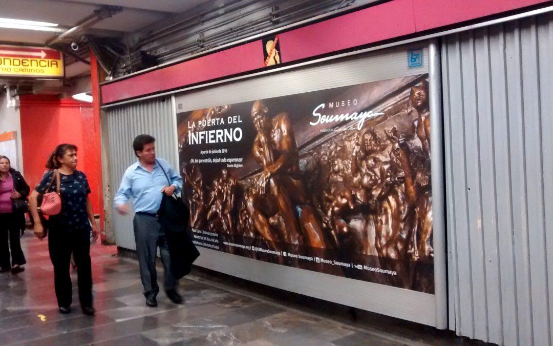 """""""La Puerta del Infierno"""" de Rodin está en México y lo comunica en el Metro CDMX"""