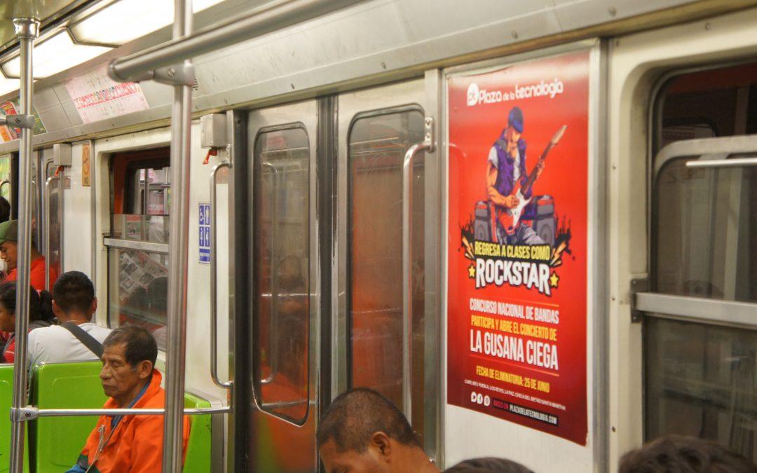 Plaza de la tecnología se pone Rockera en el Metro CDMX cabeceras