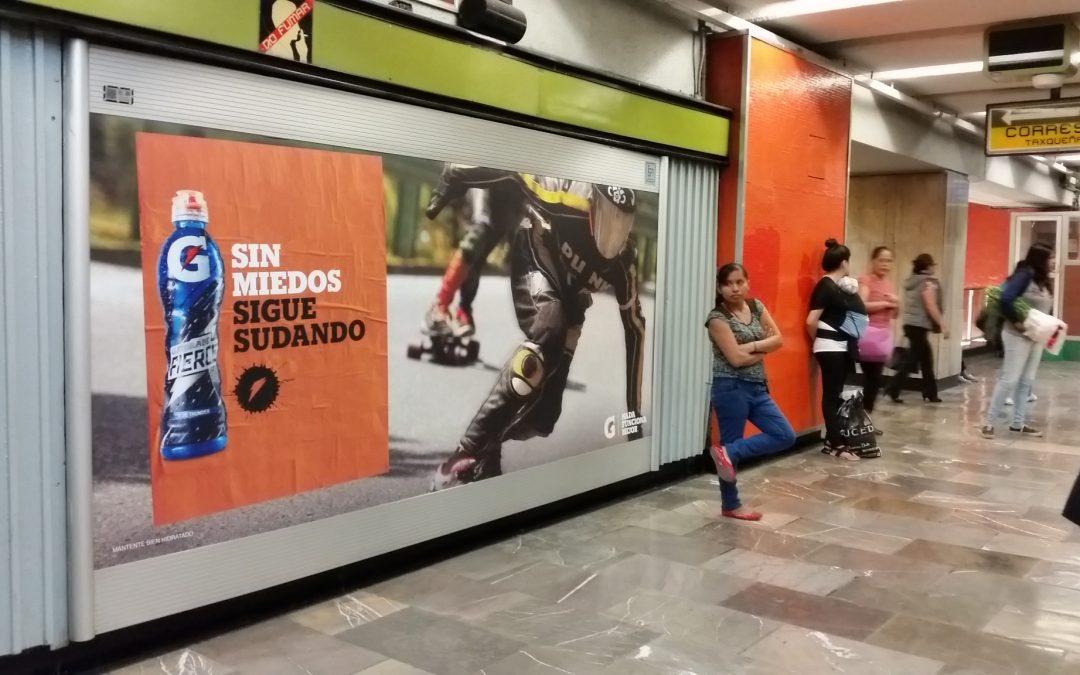 Gatorade Sin miedo en Paneles de andén del Metro CDMX