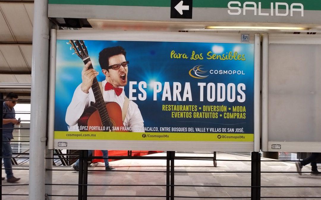 El Metro CDMX y Cosmopol ¡Son para todos!