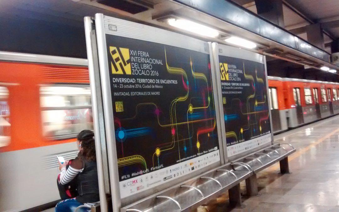 La Feria internacional del libro se promueve en el Metro DCMX