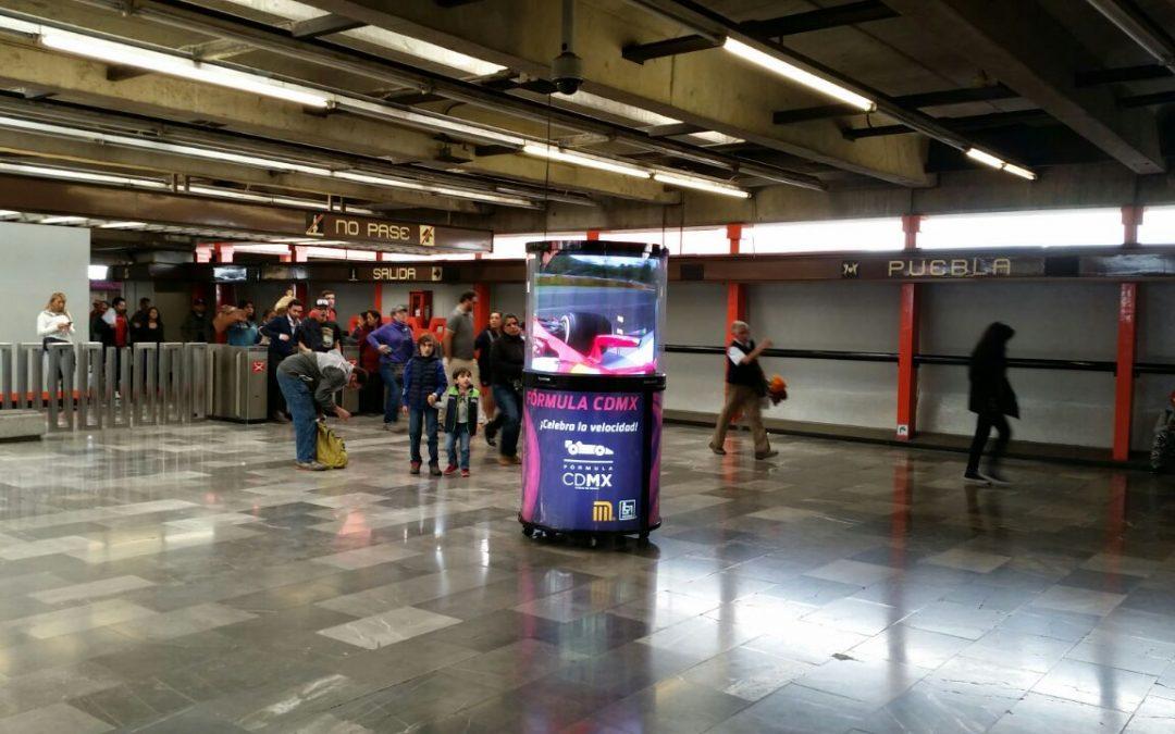 Fórmula 1 en CDMX… ¡Y en el Metro también!