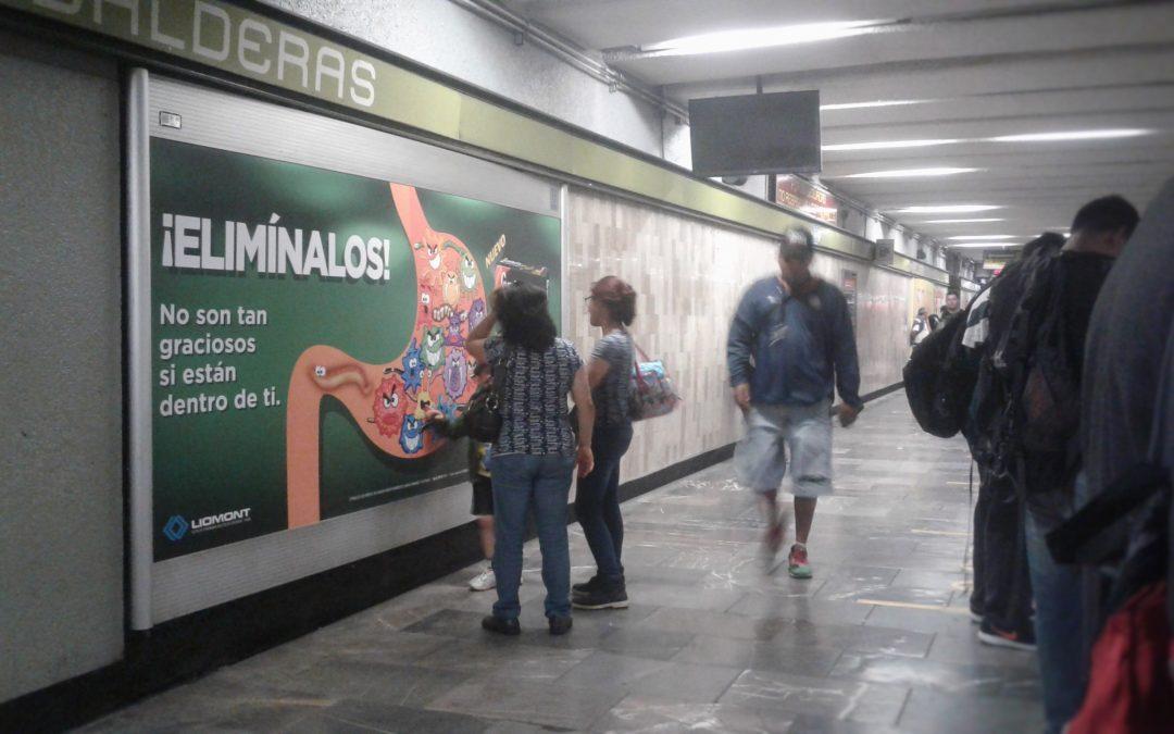 Lombrix invita a eliminarlos en el Metro CDMX