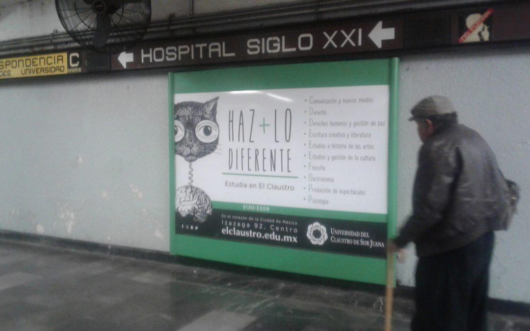 Universidad de El Claustro de Sor Juana invita a ser diferente en el Metro CDMX