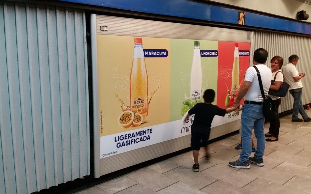 Deliciosa y refrescante E-pura en el Metro CDMX
