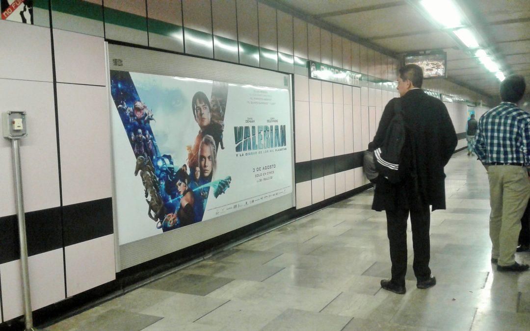 Valerian  lleva la acción al Metro CDMX