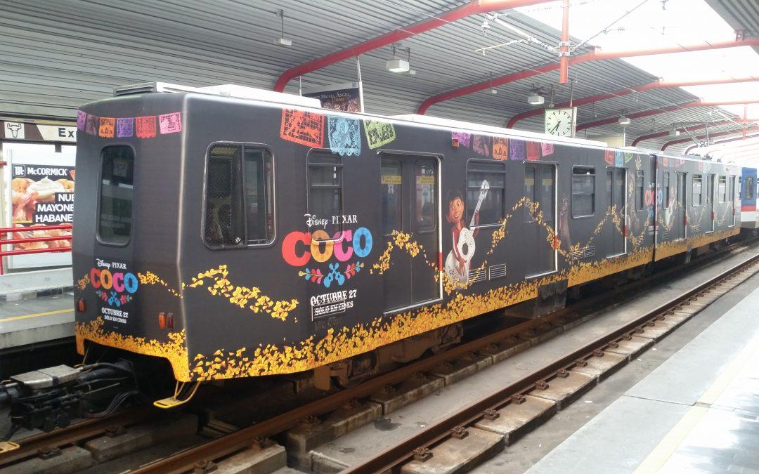 Coco recorre el mundo de los vivos en los Metros de CDMX, Guadalajara y Monterrey