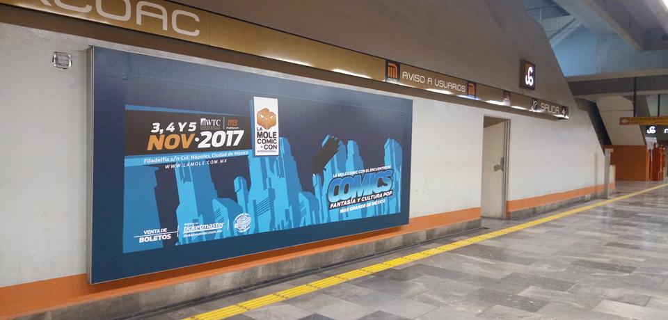 Heróica convención  presente en el Metro CDMX