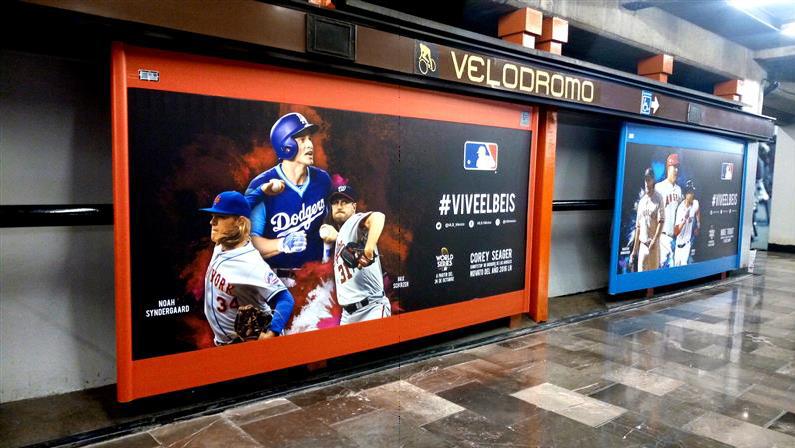 #VIVEELBEIS  invita MLB en el Metro CDMX